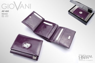 Ladies wallet with Swarovski crystal AV 110